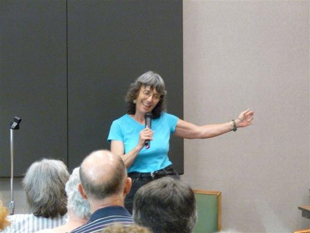 Mary speaking before a group in Blount County Public Library in Tennessee